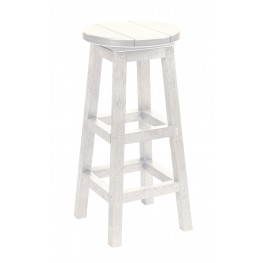 Generation White Swivel Bar Stool
