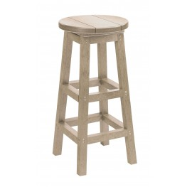 Generation Beige Swivel Bar Stool