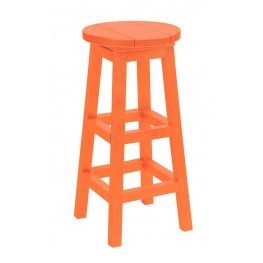 Generation Orange Swivel Bar Stool