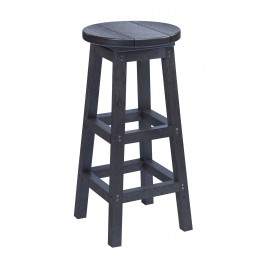 Generation Black Swivel Bar Stool