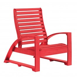 St Tropez Red Lounger Chair