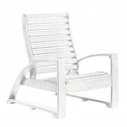 St Tropez White Lounger Chair