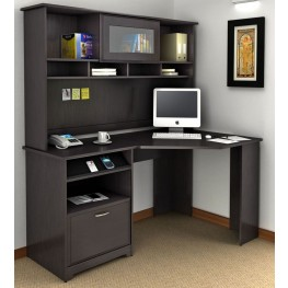 Cabot Espresso Oak Corner Home Office Set