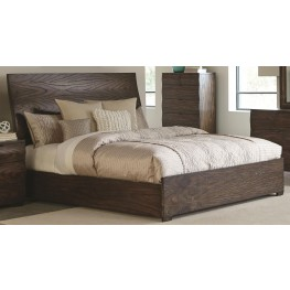 Calabasas Dark Brown King Panel Bed
