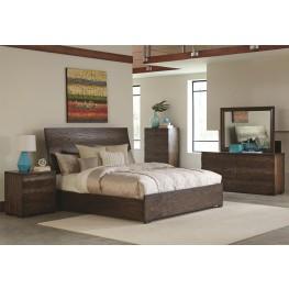 Calabasas Dark Brown Panel Bedroom Set