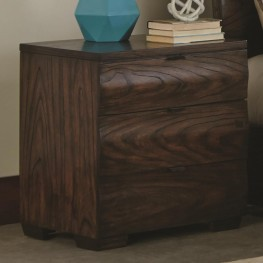 Calabasas Dark Brown 3 Drawer Nightstand