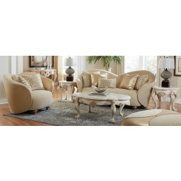 Studio Camelia Bright Gold Living Room Set