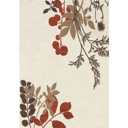 Camino Cream/Red/Brown Plant  Large Rug