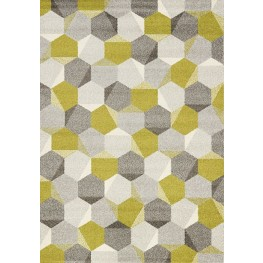 "Camino Green Grey Honeycomb 94"" Rug"