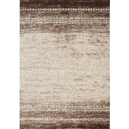 Camino Cream/Brown Distressed Large Rug