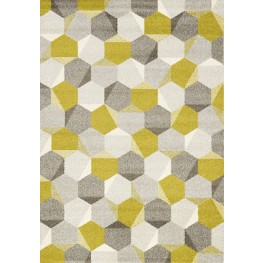"Camino Green Grey Honeycomb 63"" Rug"