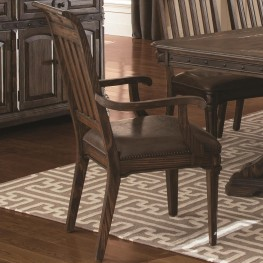 Carlsbad Dark Brown Dining Arm Chair Set of 2