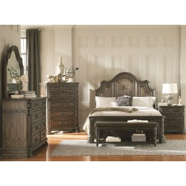 Carlsbad Dark Brown Panel Bedroom Set
