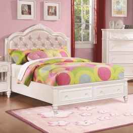Caroline Diamond Tufted Full Storage Platform Bed
