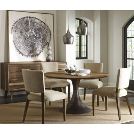 Casablanca Walnut Round Dining Room Set