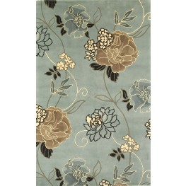 "Catalina Blue and Beige Paradise 126"" X 93"" Rug"