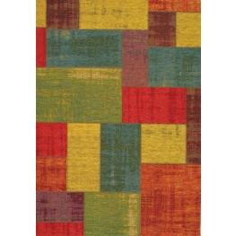 Cathedral Multi Distressed Patchwork Large Rug