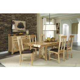 "Cattail Bungalow 96"" Natural Extendable Trestle Dining Room Set"