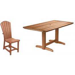 "Generations Cedar 36"" Double Pedestal Dining Room Set"