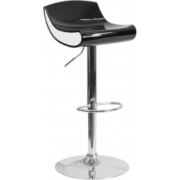 Contemporary Black And White Adjustable Height Plastic Bar Stool (Min Order Qty Required)