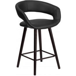 Brynn Series 24Inch High Contemporary Black Vinyl Counter Chair