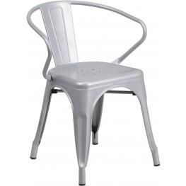 Silver Indoor-Outdoor Arm Chair