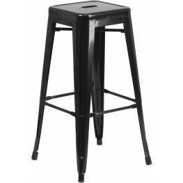 30Inch High Backless Black Indoor-Outdoor Bar Stool (Min Order Qty Required)