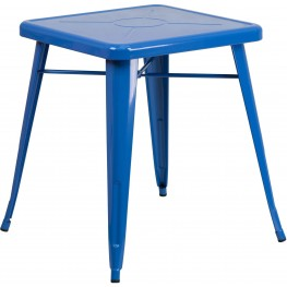23.75Inch Square Blue Indoor-Outdoor Table
