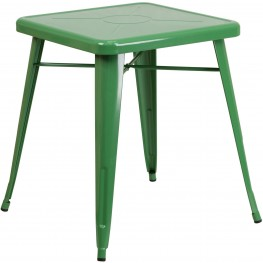 23.75Inch Square Green Indoor-Outdoor Table (Min Order Qty Required)