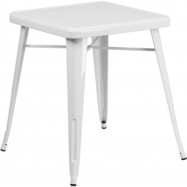 23.75Inch Square White Indoor-Outdoor Table (Min Order Qty Required)