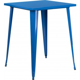 31.5Inch Square Bar Height Blue Indoor-Outdoor Table (Min Order Qty Required)