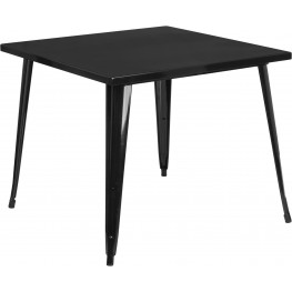35.5Inch Square Black Indoor-Outdoor Table (Min Order Qty Required)