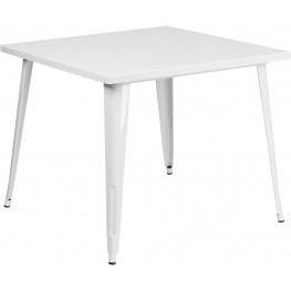 35.5Inch Square White Indoor-Outdoor Table (Min Order Qty Required)