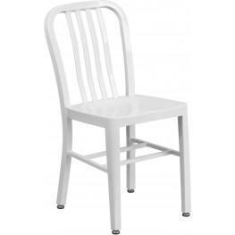 White Indoor-Outdoor Chair