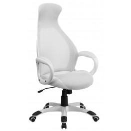 High Back Executive White Chair (Min Order Qty Required)