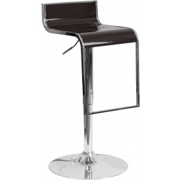 Contemporary Brown Plastic Adjustable Height Bar Stool (Min Order Qty Required)