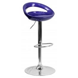 1000661 Blue Plastic Adjustable Height Bar Stool