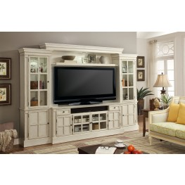 "Charlotte Antique Vintage White 72"" Entertainment Wall"