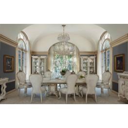 Platine de Royale Champagne Rectangular Wood Dining Room Set