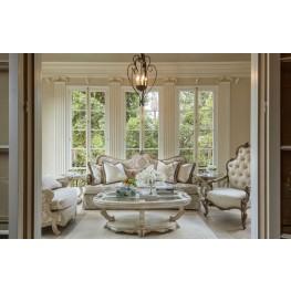 Platine de Royale Champagne Wood Living Room Set