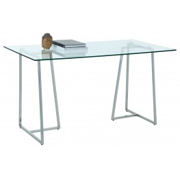 Chiswick Tempered Glass Writing Desk
