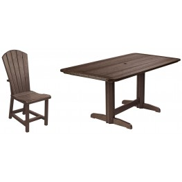 "Generations Chocolate 36"" Double Pedestal Dining Room Set"