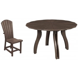 "Generations Chocolate 52"" Scalloped Round Dining Room Set"