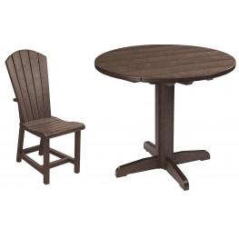 "Generations Chocolate 37"" Round Pedestal Dining Room Set"
