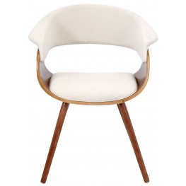 Vintage Mod Cream Chair