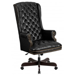 High Back Tufted Black Executive Office Chair (Min Order Qty Required)