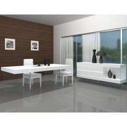 Cloud High Gloss Modern Rectangular Dining Room Set