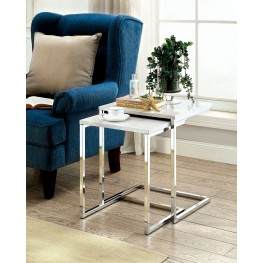 Sue White Faux Marble Nesting Table