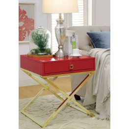 Rhona Red Side Table
