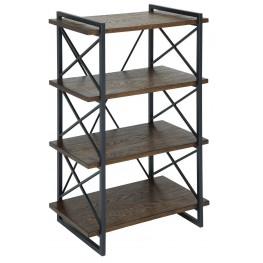 Verdana III Medium Weathered Oak Book Shelf